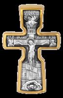 Крест «Распятие с предстоящими. Святой Николай Чудотворец»
