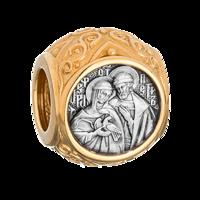 Бусина «Святые Петр и Феврония Муромские»