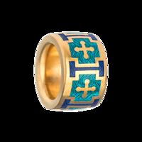 Бусина-разделитель «Крестики»